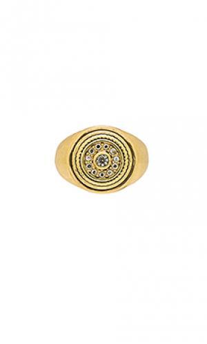 Кольцо cosmic disc Luv AJ. Цвет: металлический золотой