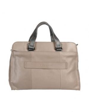 Деловые сумки PIQUADRO. Цвет: голубиный серый