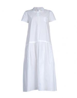 Платье длиной 3/4 A.B APUNTOB. Цвет: белый