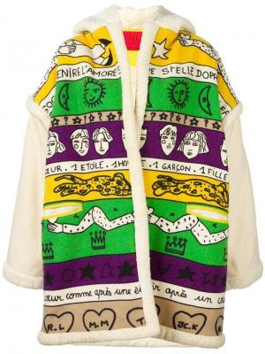 Куртка свободного кроя с графическим принтом Jc De Castelbajac Vintage. Цвет: многоцветный