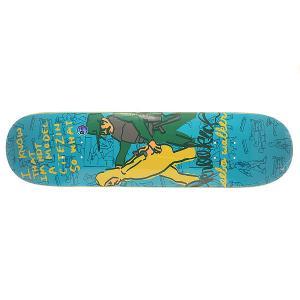 Дека для скейтборда  Sebo In Trouble 32.22 x 8.25 (21 см) Krooked. Цвет: синий