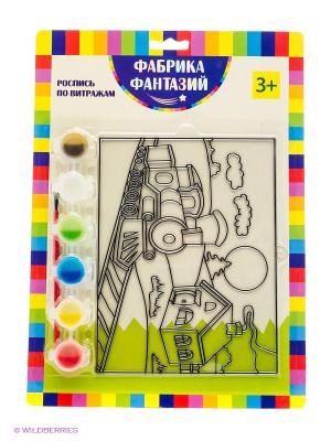 Н-р для росписи витража Паровоз Фабрика Фантазий. Цвет: зеленый
