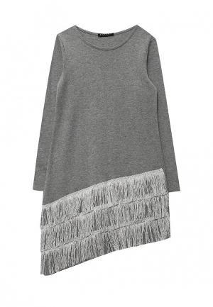 Платье Sisley. Цвет: серый