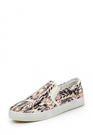 Слипоны WS Shoes. Цвет: бежевый