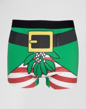 SSDD Новогодние боксеры. Цвет: зеленый