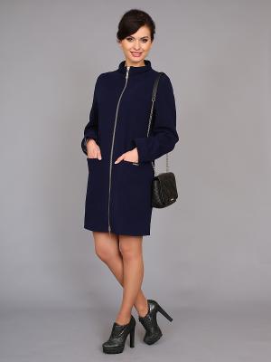 Пальто nasha. Цвет: синий