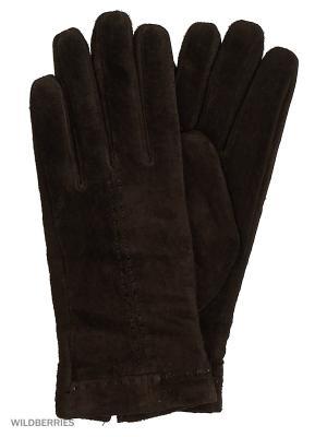 Перчатки женские Marco Bonne`. Цвет: темно-коричневый