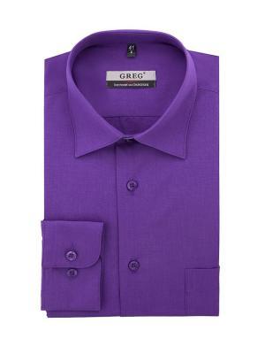 Рубашки GREG. Цвет: фиолетовый