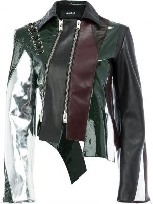 Panelled leather jacket Yang Li. Цвет: многоцветный
