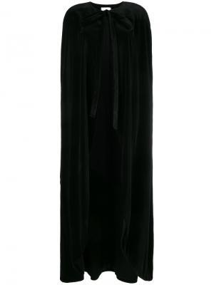 Длинный кейп с драпировкой Racil. Цвет: чёрный