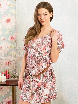 Платье HAYS. Цвет: розовый, коричневый