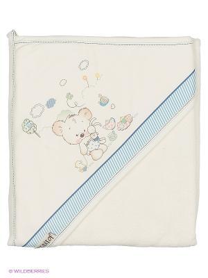 Полотенце Bebitof Baby. Цвет: голубой, серебристый, белый