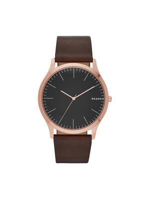 Часы SKAGEN. Цвет: черный, коричневый, красный, золотистый