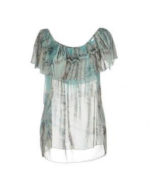 Блузка AU SOLEIL DE SAINT TROPEZ. Цвет: бирюзовый