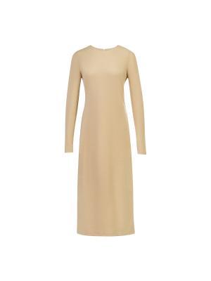 Платье миди базовое трикотажное золотое Bella kareema