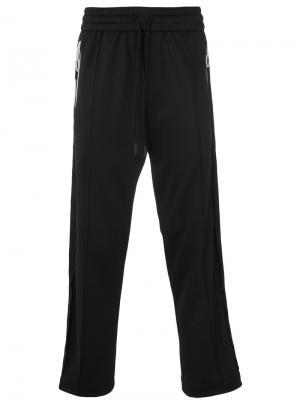 Спортивные штаны с принтами Diagonals Off-White. Цвет: чёрный