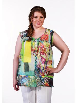 Блузка Queen Size. Цвет: салатовый