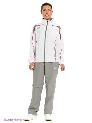 Спортивный костюм SUIT GAIA ASICS. Цвет: бежевый, белый