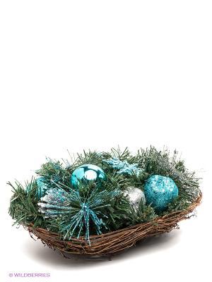 Декор Хвойное украшение Mister Christmas. Цвет: зеленый, голубой, серебристый