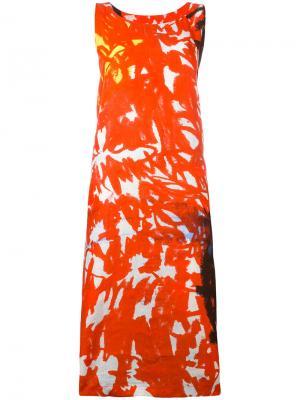 Платье с цветочным принтом Daniela Gregis. Цвет: красный