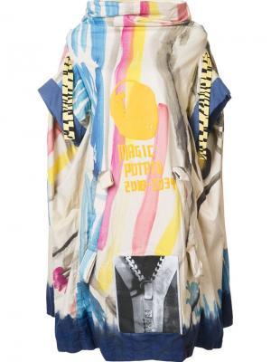 Платье свободного кроя с рисунком Bernhard Willhelm. Цвет: многоцветный