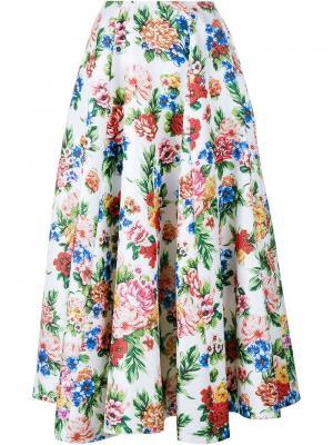 Пышная юбка с цветочным принтом Emilia Wickstead. Цвет: многоцветный
