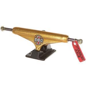 Подвеска для скейтборда 1шт.  Forged Titanium Gold/Black 6 (22.2 см) Independent. Цвет: черный,желтый