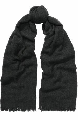 Шерстяной шарф Rick Owens. Цвет: темно-серый