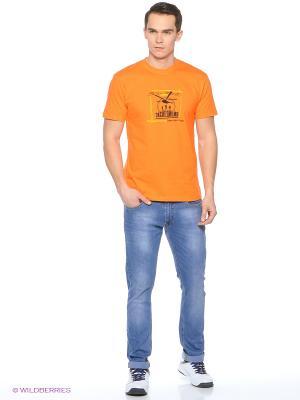 Футболка мужская Отступать уже дороже оранжевая Экспедиция. Цвет: оранжевый