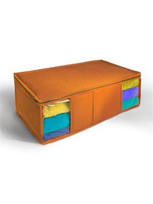 Ящик текстильный для хранения вещей Miolla. Цвет: оранжевый