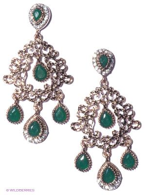 Серьги Lovely Jewelry. Цвет: зеленый