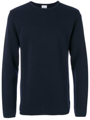 Классический трикотажный свитер S.N.S. Herning. Цвет: синий