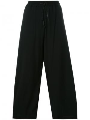 Укороченные брюки на шнурке Isabel Benenato. Цвет: чёрный