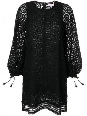 Укороченный комбинезон с вышивкой See By Chloé. Цвет: чёрный