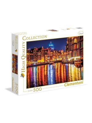 Итальянский пазл Clementoni. Серия High Quality. Амстердам. 500 элементов. Clementoni. Цвет: оливковый, красный, рыжий
