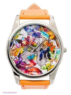 Часы Бабочки Mitya Veselkov. Цвет: оранжевый