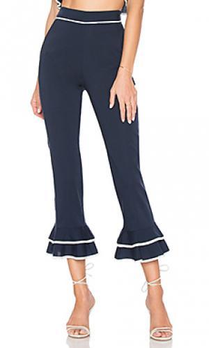 Укороченные брюки demi Tularosa. Цвет: синий