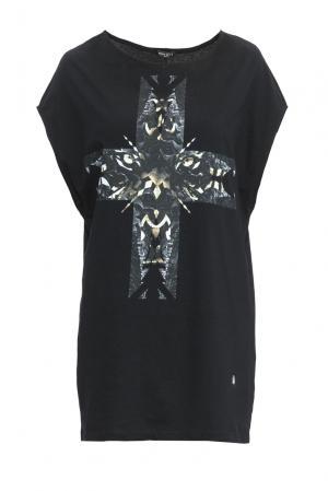 Трикотажное платье 152837 Mode De Vie. Цвет: черный