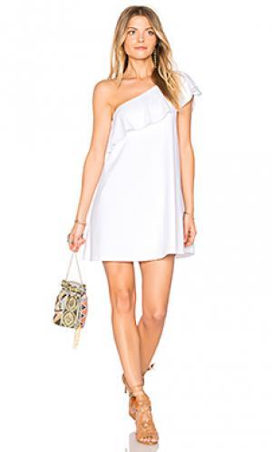 16 платье arwen Susana Monaco. Цвет: белый