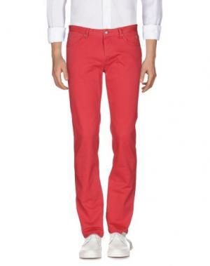 Джинсовые брюки JAGGY. Цвет: красный