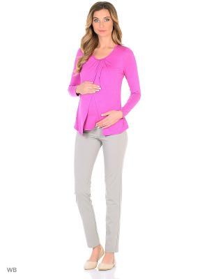 Блуза для беременных и кормящих мам Nuova Vita. Цвет: сиреневый
