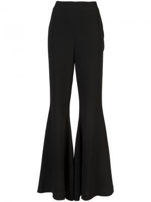 Широкие расклешенные брюки Cinq A Sept. Цвет: чёрный