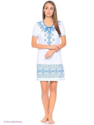 Сорочка ночная женская MARSOFINA. Цвет: белый, голубой