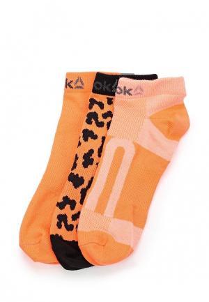 Комплект носков 3 пары Reebok. Цвет: оранжевый