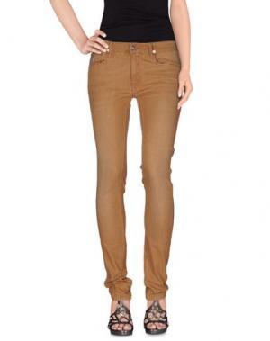Джинсовые брюки APRIL 77. Цвет: верблюжий