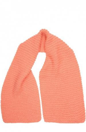 Вязаный шарф с металлизированным волокном Stella McCartney. Цвет: оранжевый
