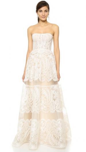 Вечернее платье Coco Reem Acra. Цвет: белый
