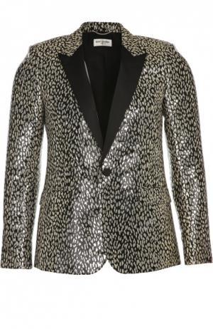 Вечерний пиджак Saint Laurent. Цвет: золотой