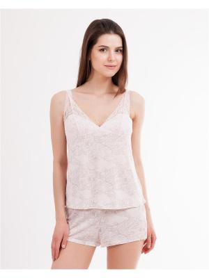 Пижама: топ, шорты Mark Formelle. Цвет: бледно-розовый