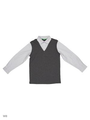 Пуловер LIK. Цвет: темно-серый, серебристый